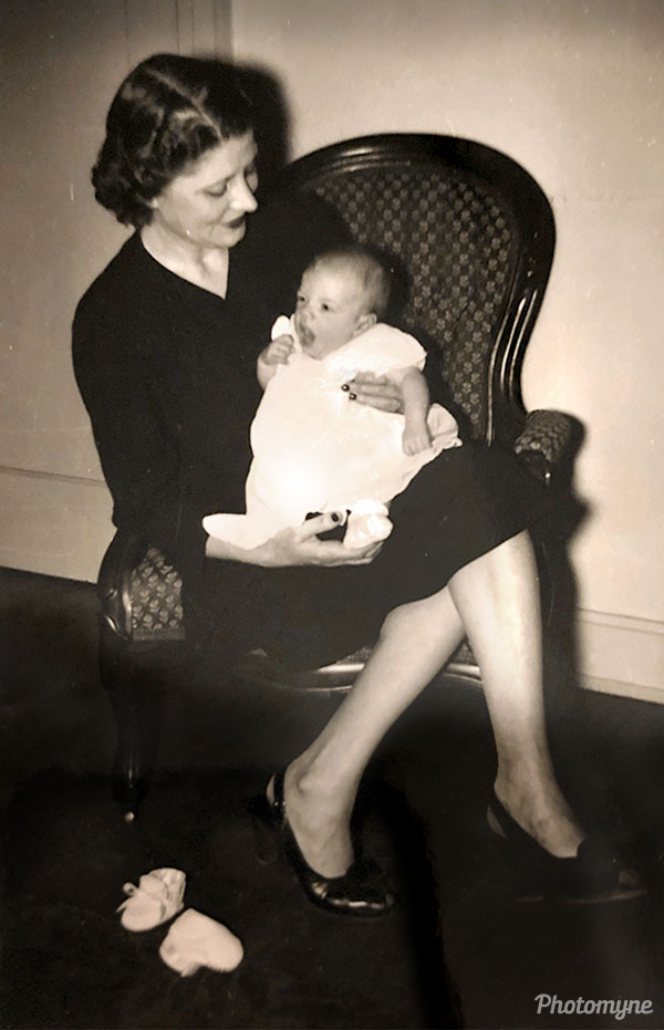 Meeting my mother on my adoption day. USA 1949