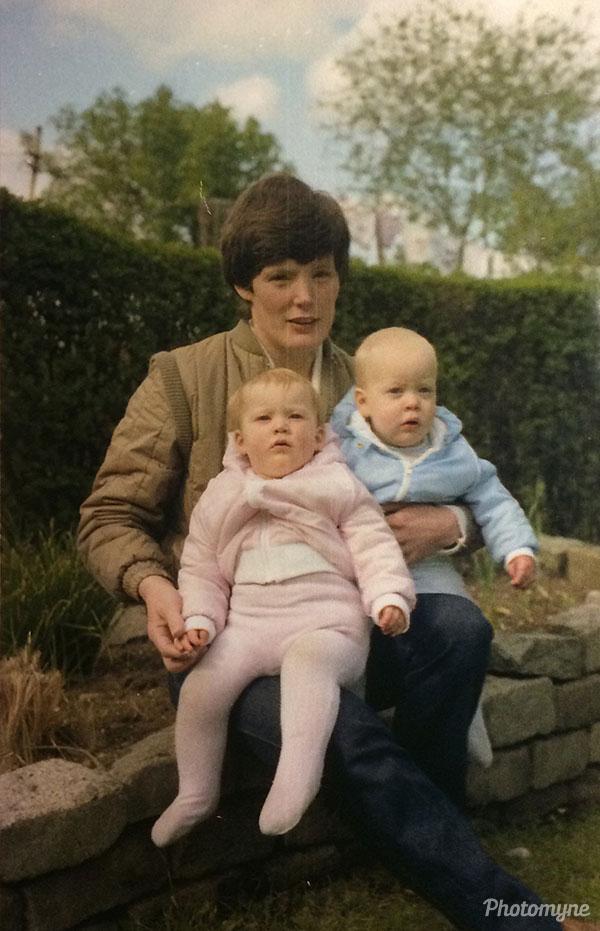 My twins. Belfast, UK 1981