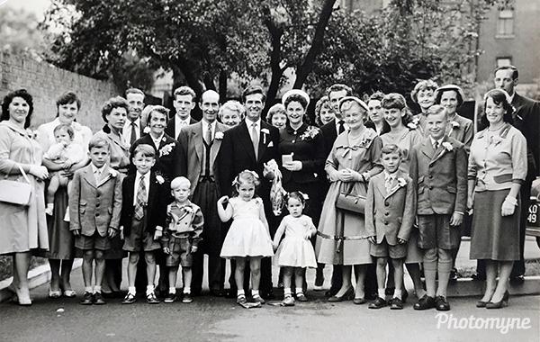 Mum and dad's wedding day. UK 1958