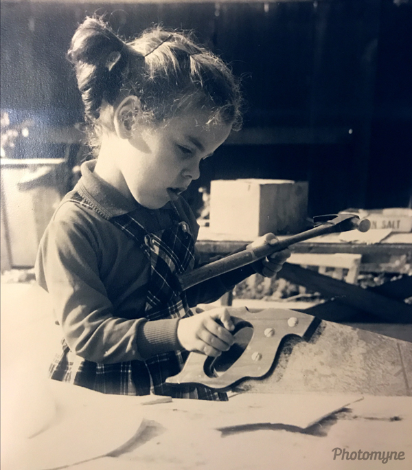 Yaeli with her tools. California, USA 1965