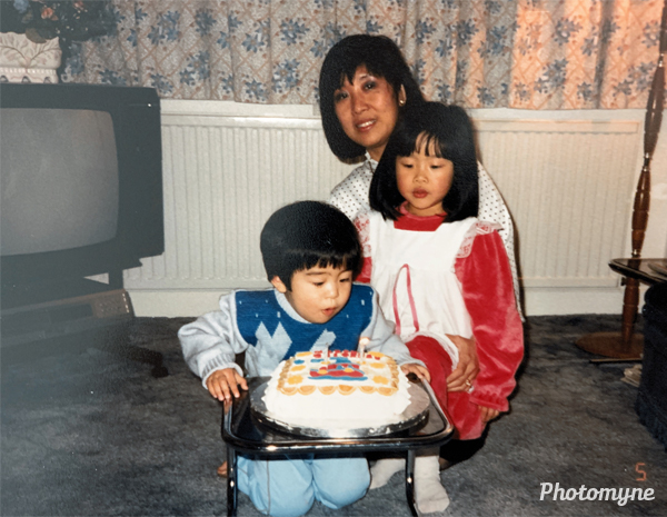 Vincent's second birthday. UK