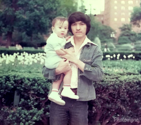 A dad's wish... I wish I could carry my son in my arms one more time....! NY, USA 1977