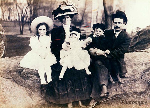 Grandparents. NY, USA 1908