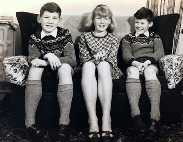Peter age 10, Sharon age 12, Philip age 8. UK 1967