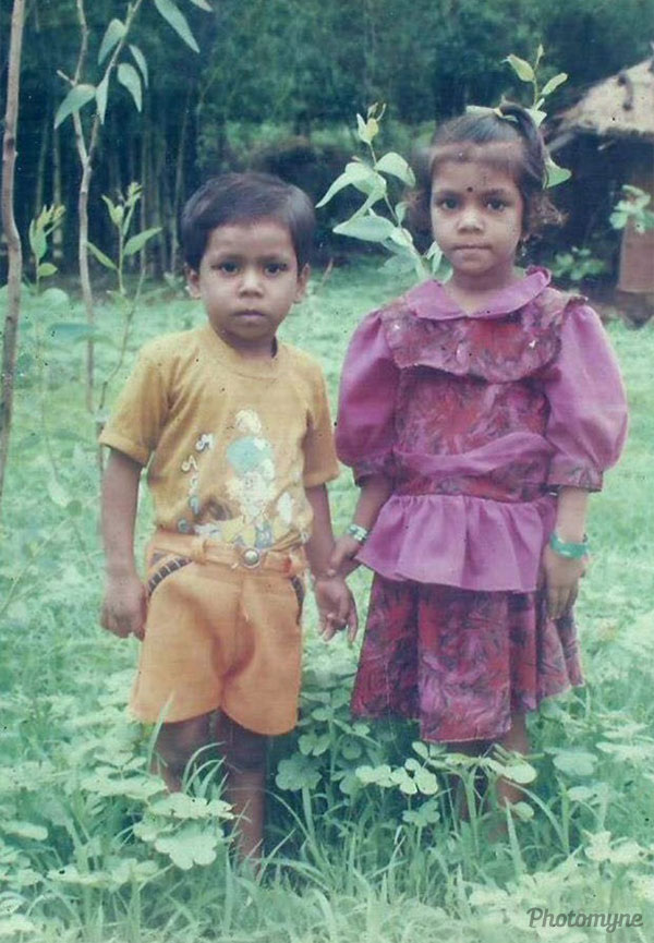 My sister and me. India 2001