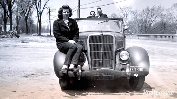 My grandmother with her girlfriends before she met my grandpa. USA (year unknown)