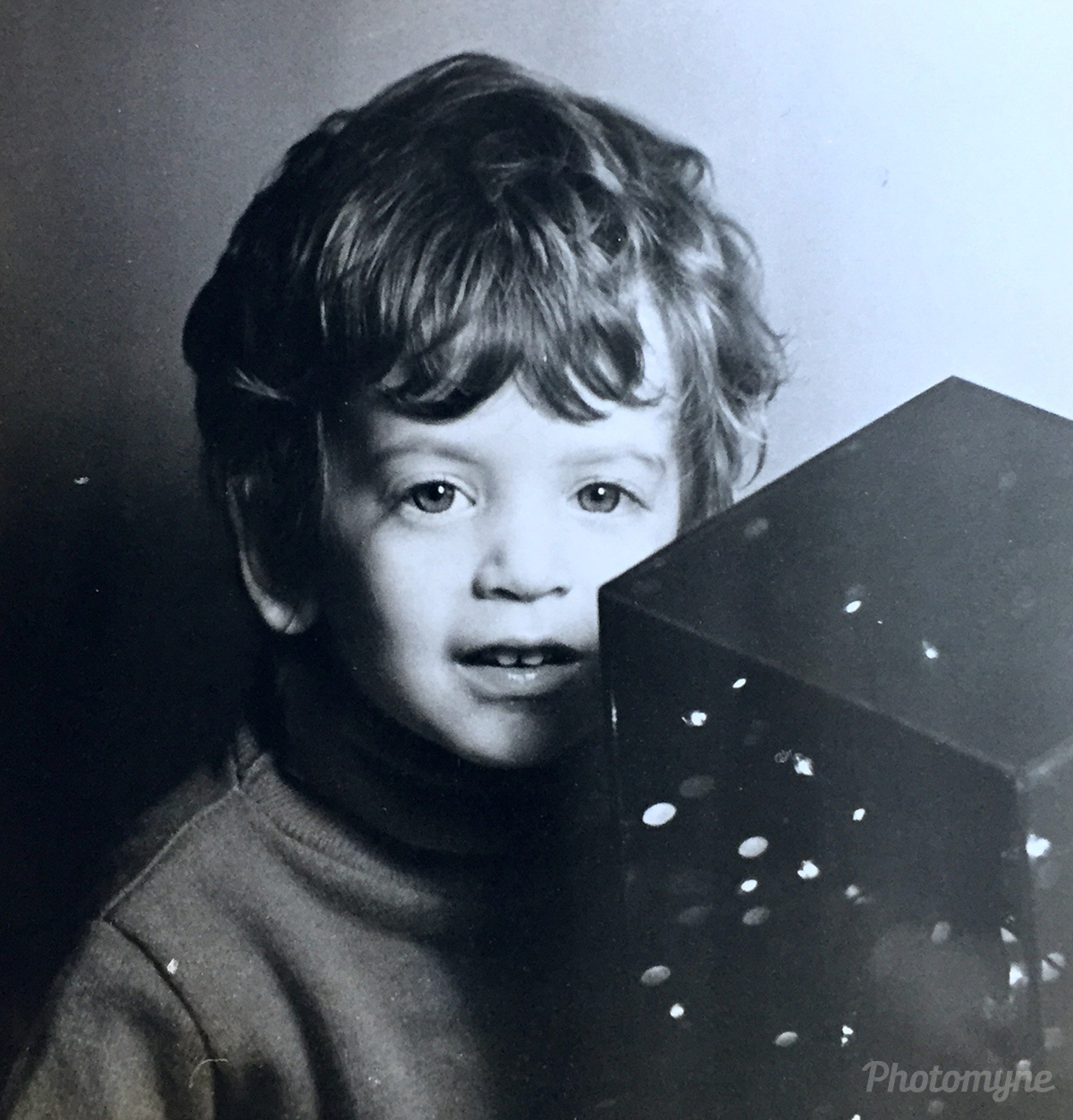 Me at age 3 in front of some modern art. Philadelphia, USA 1970