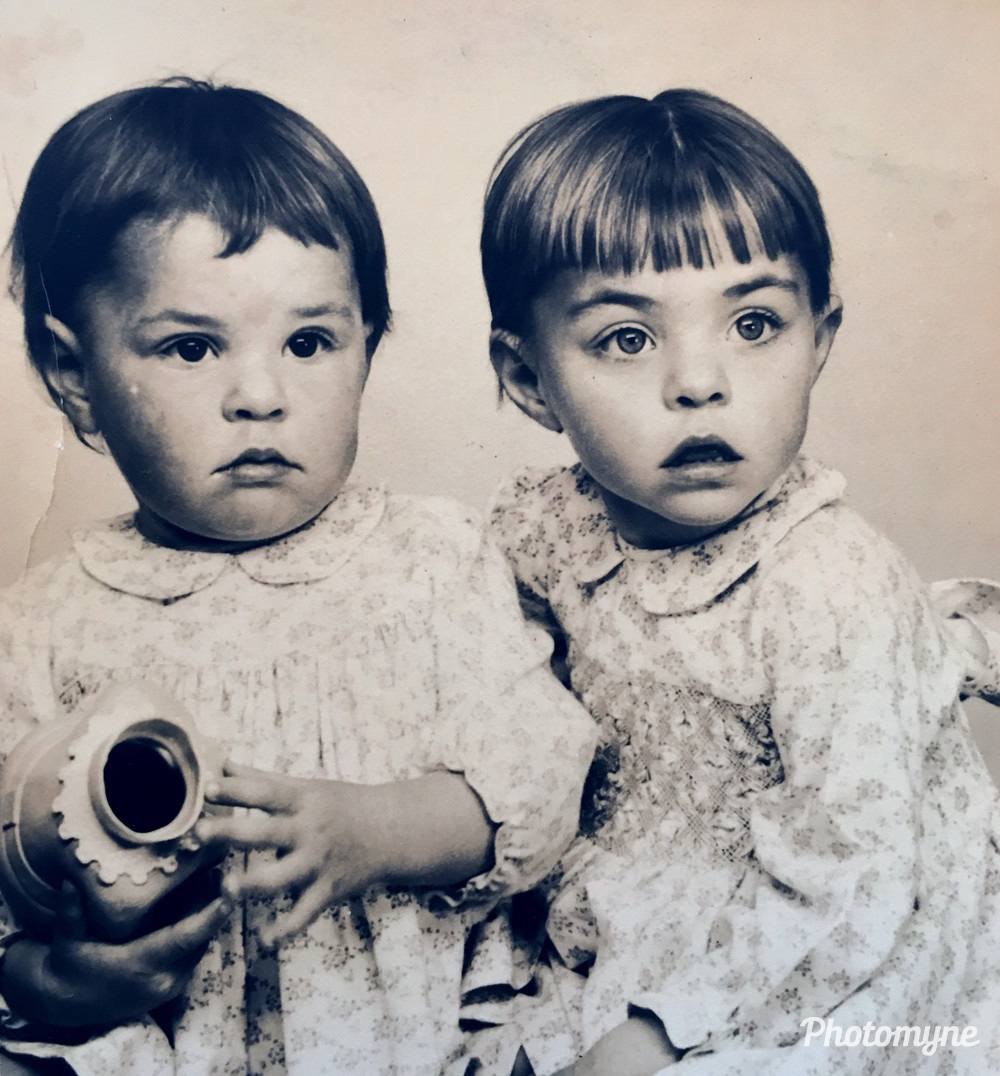 My Sister and I when we were babies/toddlers. I am the eldest by about 15 months, on the right. We were born in Zimbabwe but grew up in South Africa, 1957