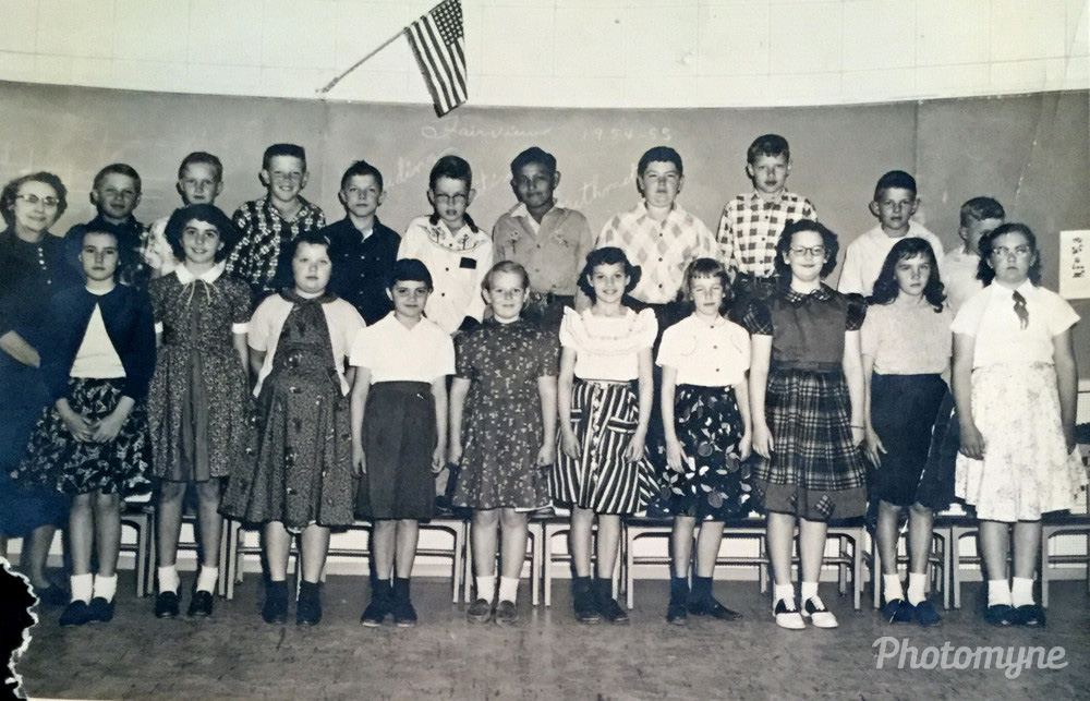 Mrs. Ryan's Fourth Grade Class, US, 1954