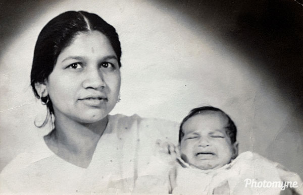 Mum and Savitri. UK 1969