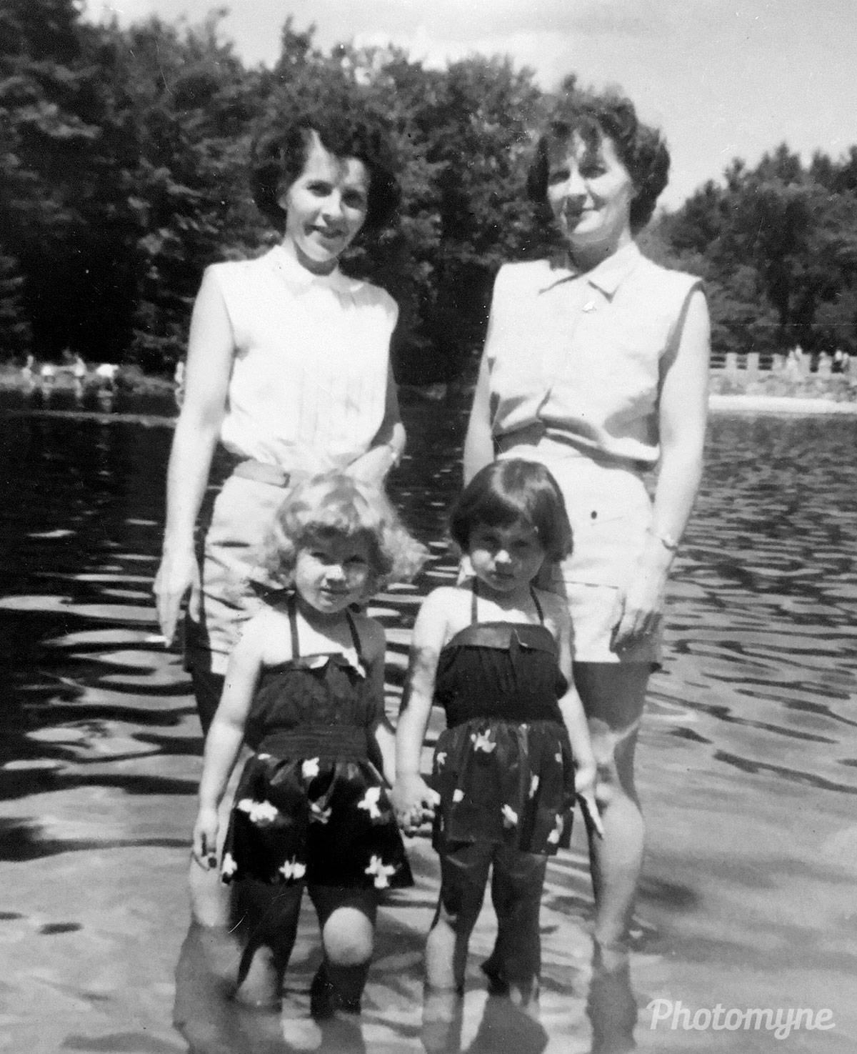 At the lake, US, 1955