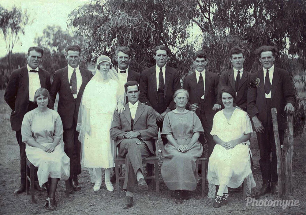 A Country Wedding ( Monica O'Dea marries Herbert Hill ), Australia, 1924