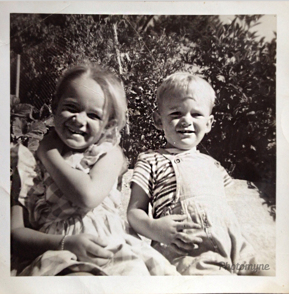 My brother and I, Nelson, New Zealand, 1960