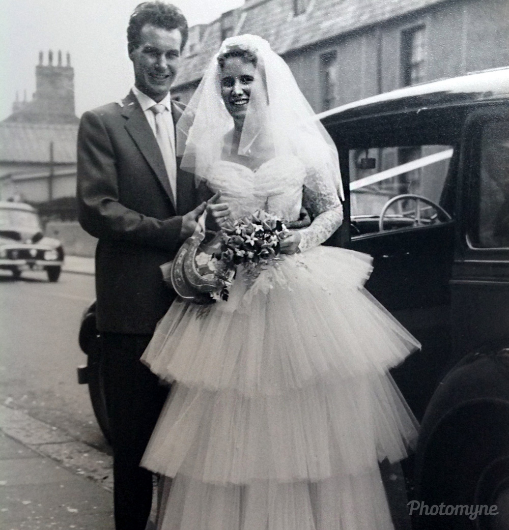 Our wedding, Enfield, United Kingdom, 1960