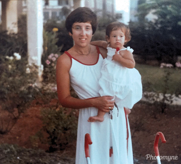 Mum and me outside our new house. I was about 3 years old and look so much like my daughter does today. Israel 1983