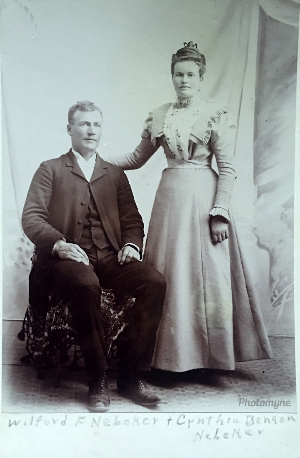 My grandparents, Wilford Franklin Nebeker and new wife Cynthia Benson Nebeker, 1898, US