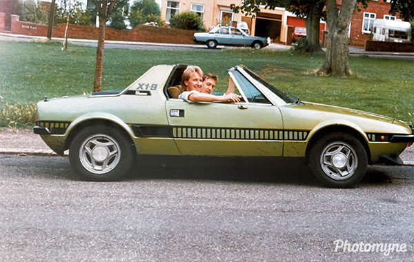 Fiat X19 1300. UK 1987