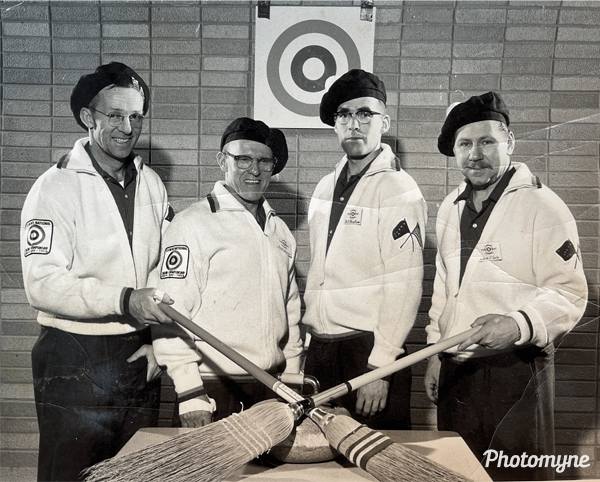 National Curling Champions in Anchorage, Alaska. USA 1960s
