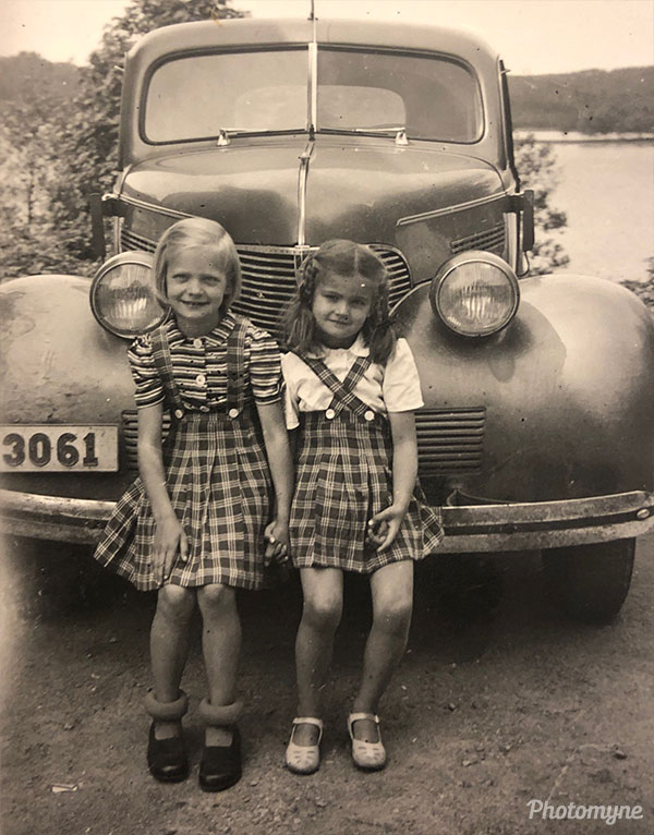 Two sisters. Sweden 1943