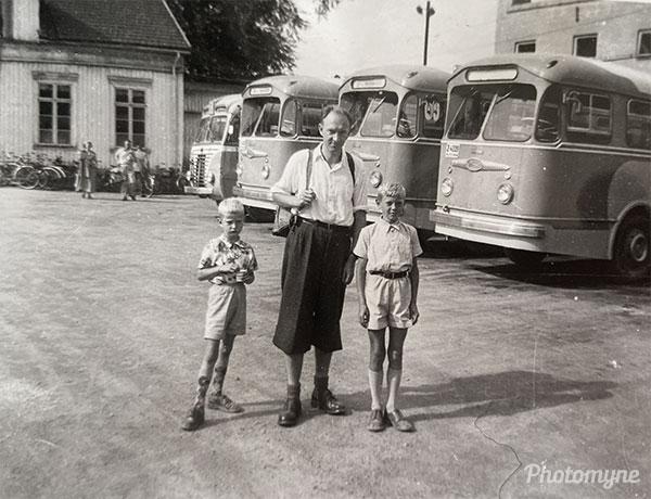Busstur (Bus tour). Norway 1953