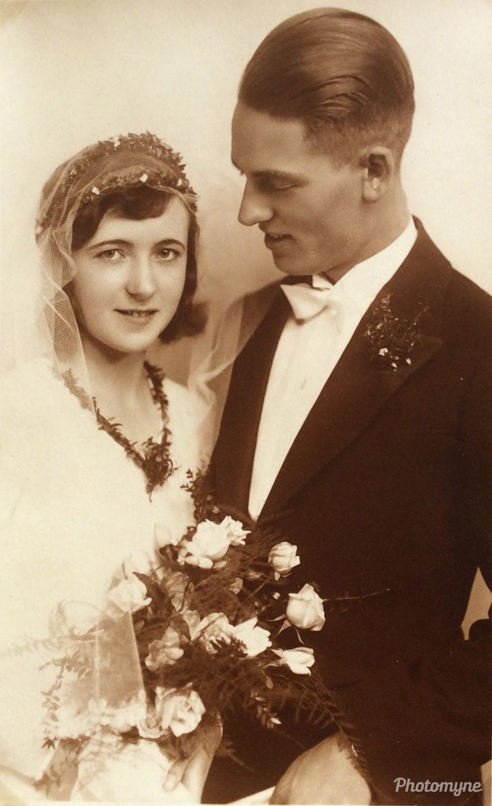 MY PARENTS WEDDING PHOTO.... Braunschweig, Germany, 1930