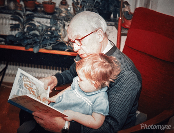 Me and my grandpa a long time ago. Sweden 196
