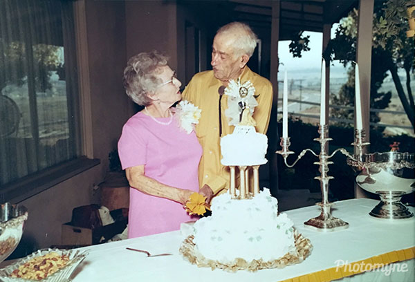 Grandma and Grandpa Trapp Anniversary. USA 1971