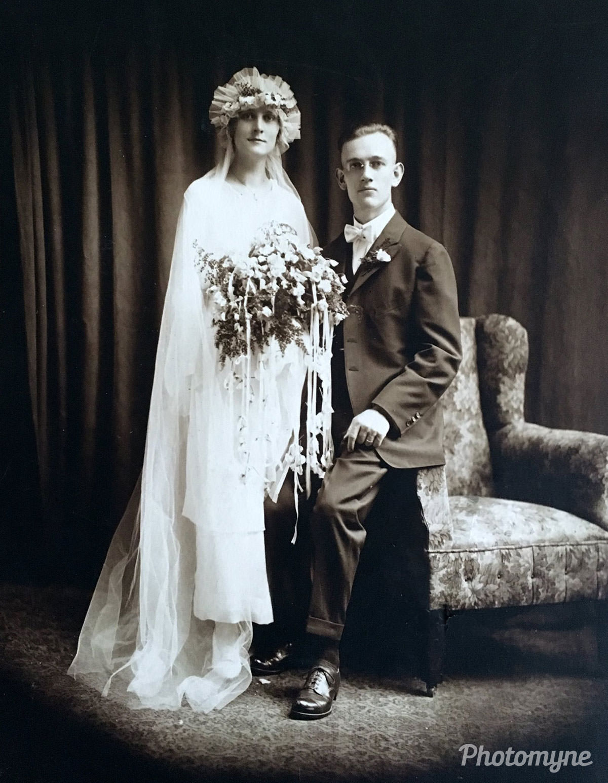 My grandparents, August and Mae (Nehrentz) Lohr; wedding date is July 5, 1919 in Cleveland, Ohio. My grandmother and I spent a lot of time together as I was growing up. My grandfather died in 1952, so I never knew him.