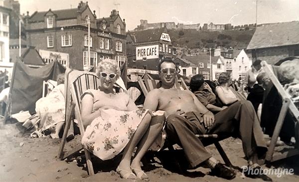 Nan and Grandad in Scarborough. UK 1958