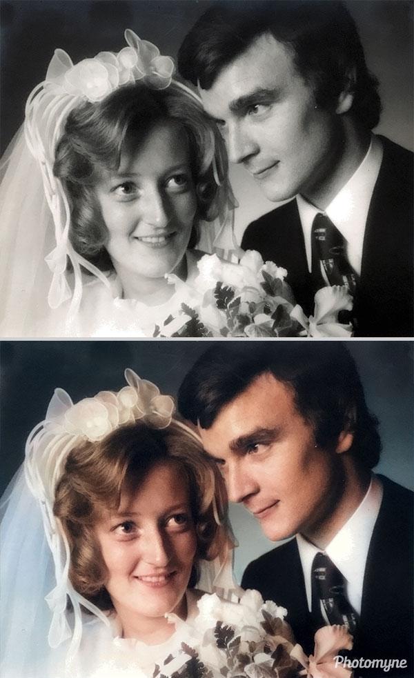Huwelijk zus (sister's wedding). Belgium 1973