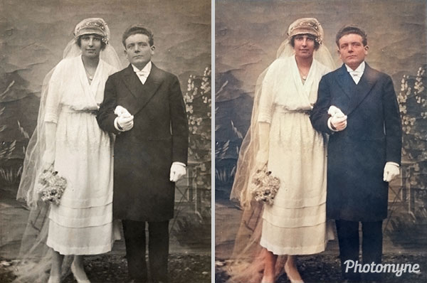 Mariage de mes grands parents (The marriage of my grandparents). France 1919