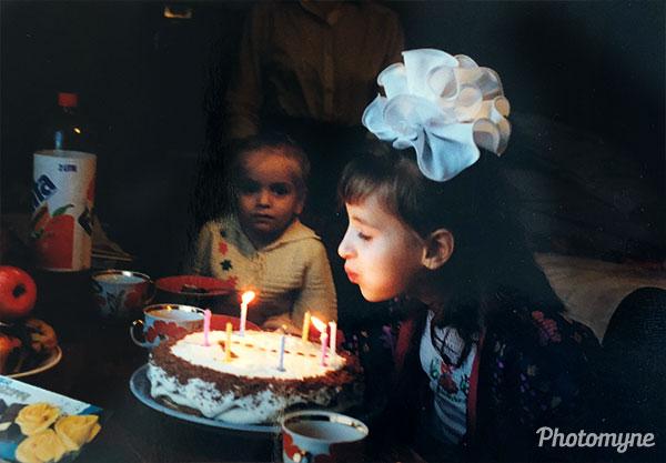 День рождение - 6 лет (6th birthday). Ukraine 1996