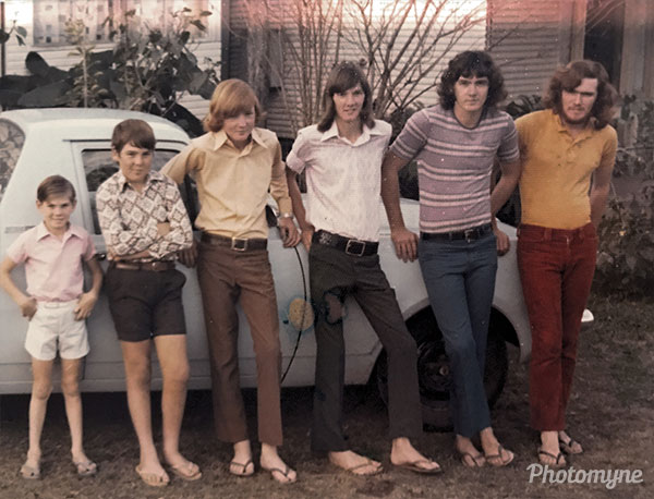 Coward Boys in order of birth. Australia 1974