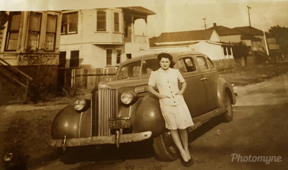My mom Verna Mae, Mexico, 1947