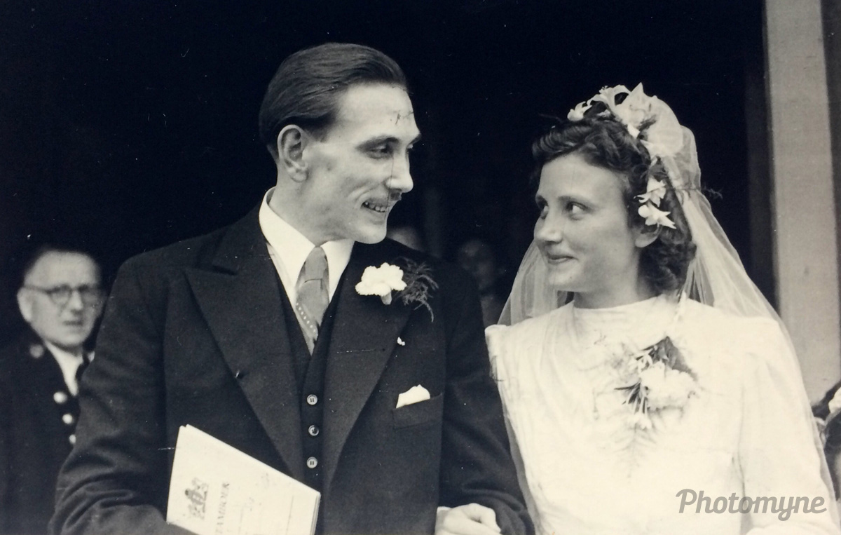 Mom and Dad happily married, Amsterdam, Netherlands, 1946
