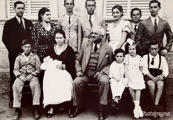 Foto da família Wilke Buratto em Barbacena (Photo of the Wilke Buratto family in Barbacena). Brazil 1935