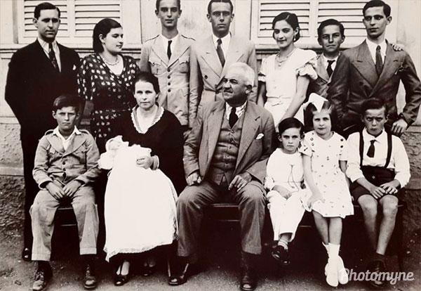 Foto da família Wilke Buratto em Barbacena (Photo of the Wilke Buratto family in Barbacena). Brazil 1935