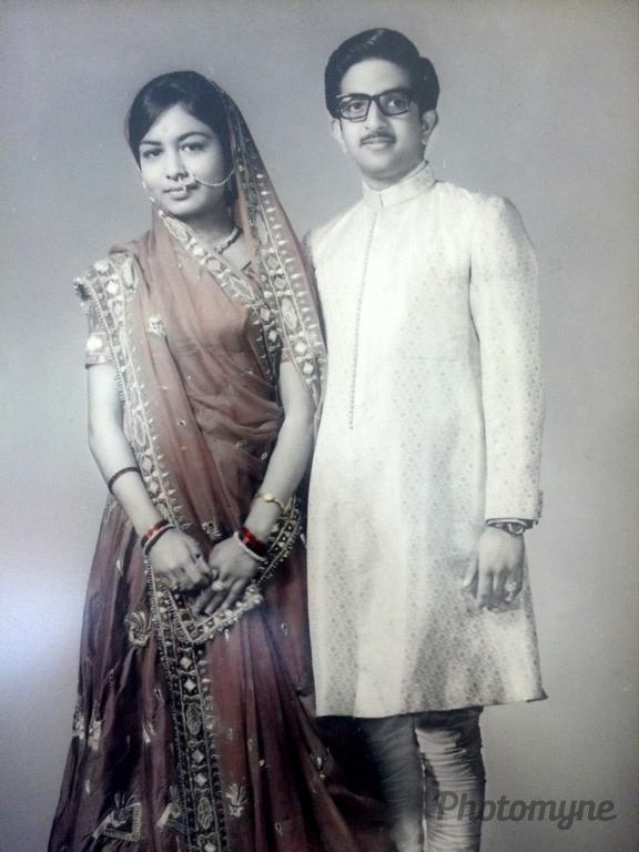 18 January 1968. The day I got married. In Kolkata, India. It was very traditional wedding