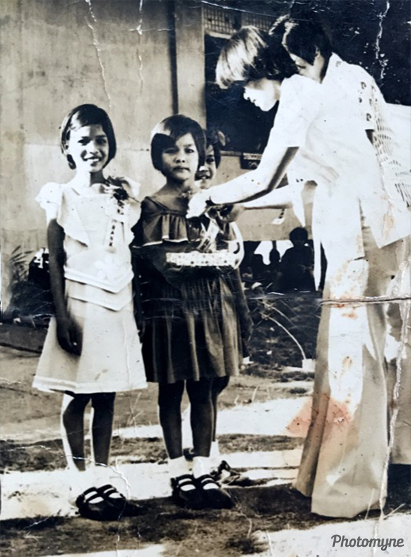 Receiving award: The Big Five. Philippines 1978