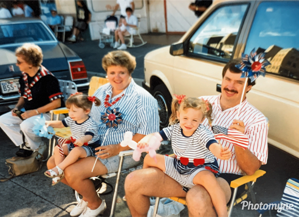 Waiting for the July 4th parade to start. USA 1992