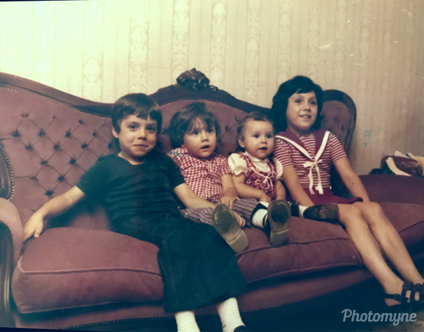 Io e i miei fratelli (my brothers and I). Italy, 1972