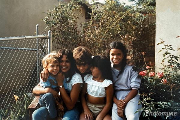 The Van Den Akker siblings. CA, USA 1983
