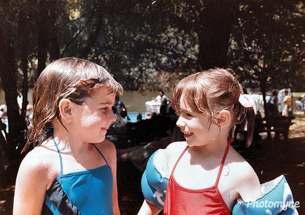 Amy and Vicki. Australia 1981