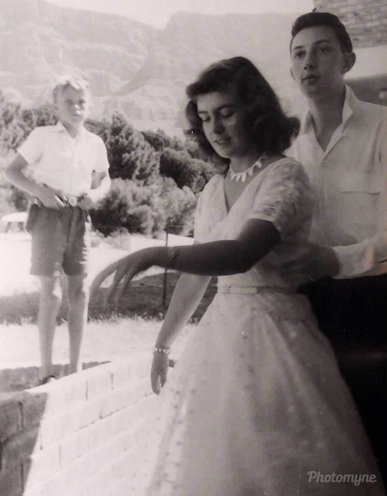 CHRISTMAS DAY- JUST MET MY HUSBAND..... Cape Town, South Africa, 1955