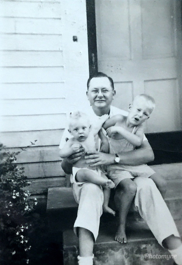 My Father, me, and my little brother, Hank, 1947, US