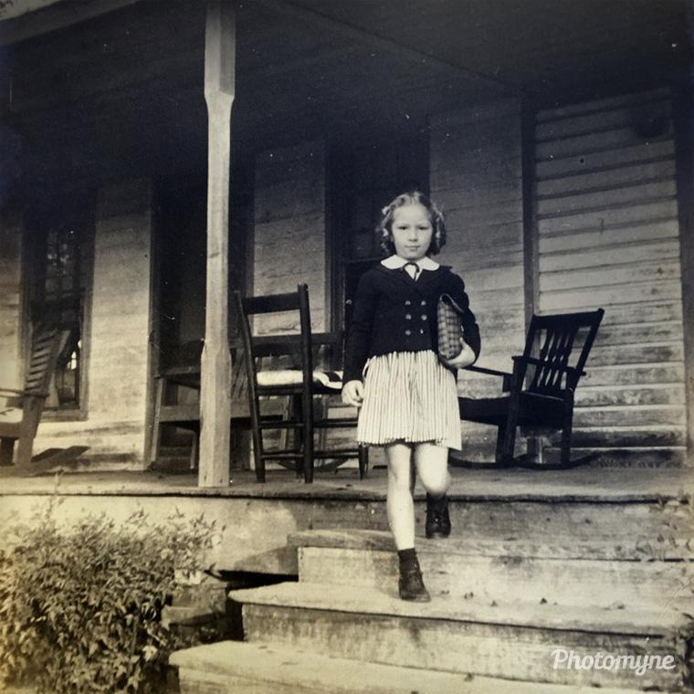 Joyce Keeling's first day of school, Henderson, Texas, US, 1941