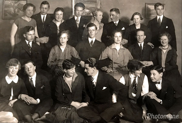Students. Sweden 1929