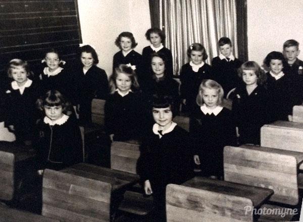 École Nouvelle, 2e année du primaire (New elementary school, 2nd grade). Canada 1951