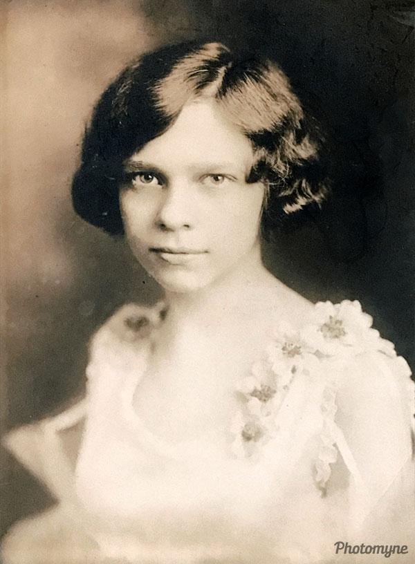 Sara age 12. USA 1926