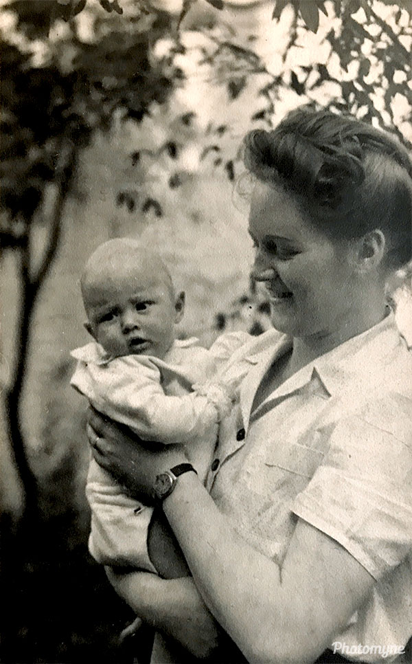 Me and mom. Belgium 1947